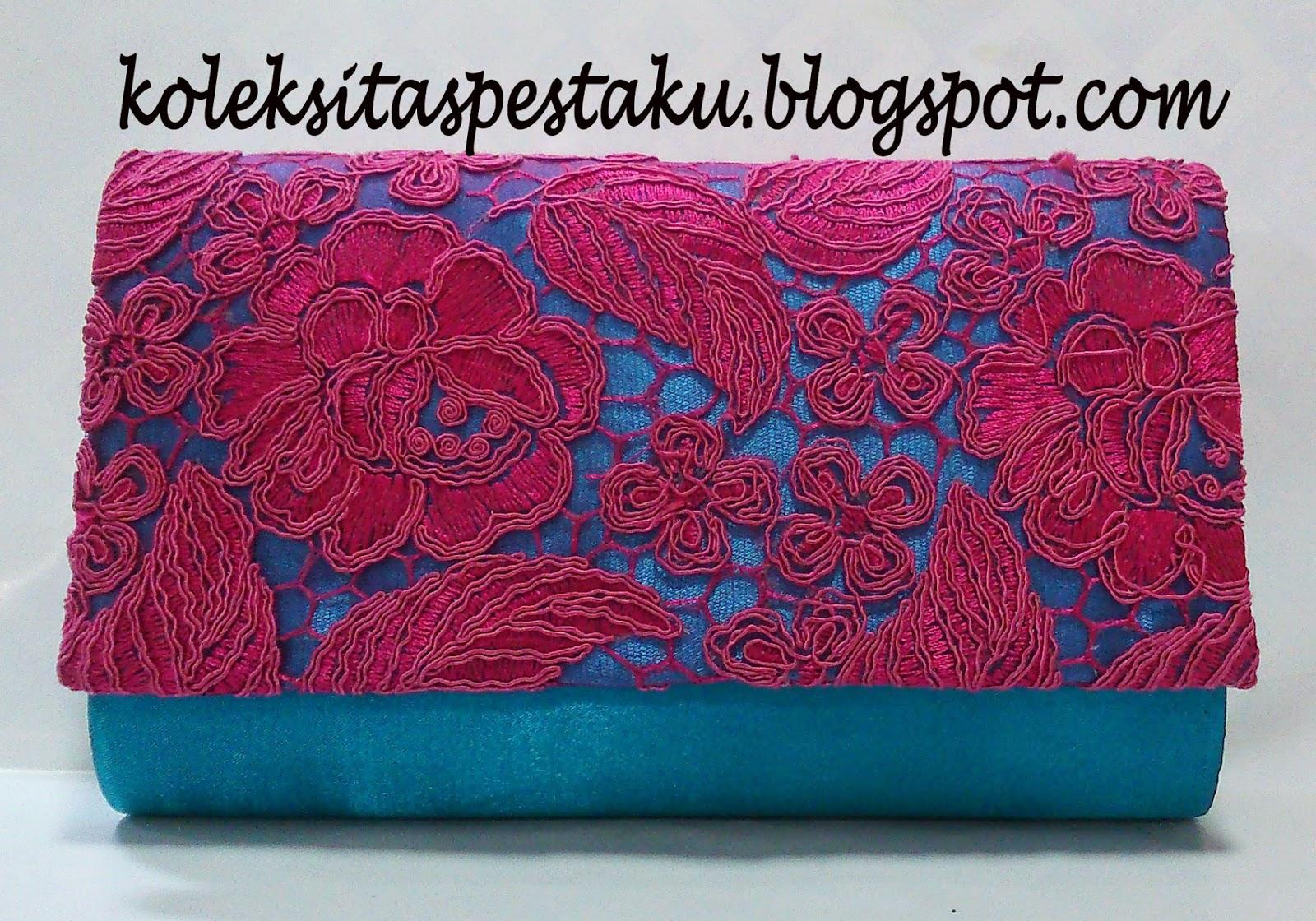 Terbaru dan Ready Stock Tas Pesta Tosca Bunga Timbul Pink Fanta