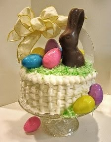 Easter Basket Filled Layer Cake