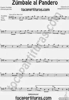 Partitura de Zúmbale al Pandero para Trombón, Tuba Elicón y Bombardino by Sheet Music for Trombone, Tube, Euphonium Music Scores