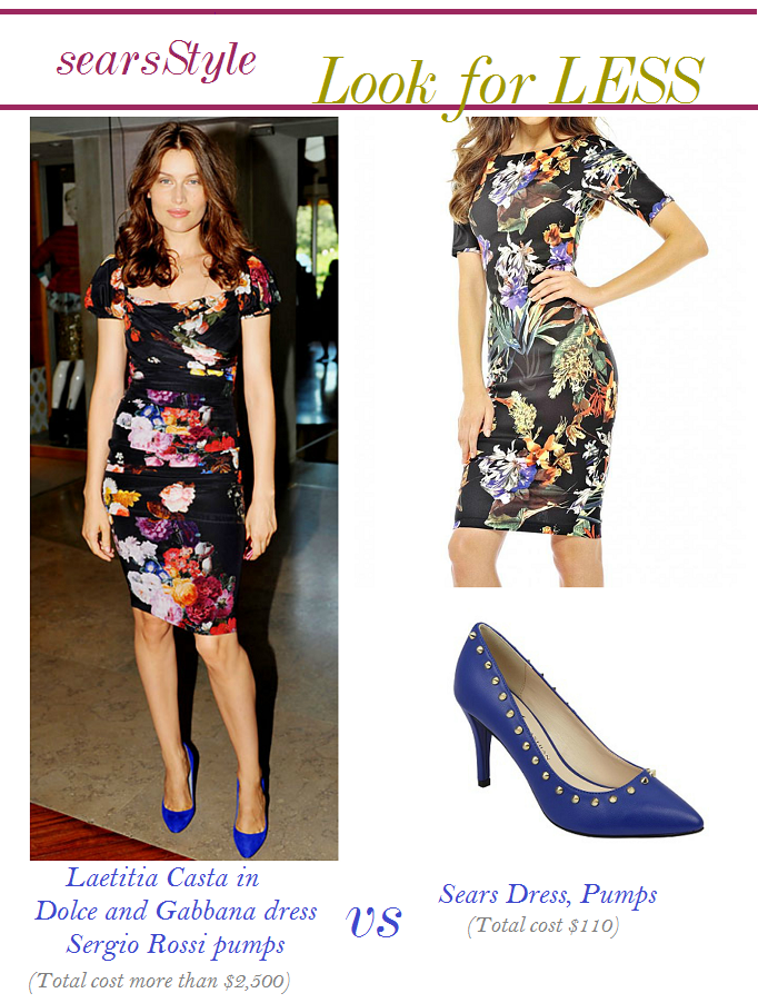 Laetitia Casta Floral Dress, Laetitia Casta Look for Less, #ThisisStyle #Cbias #shop