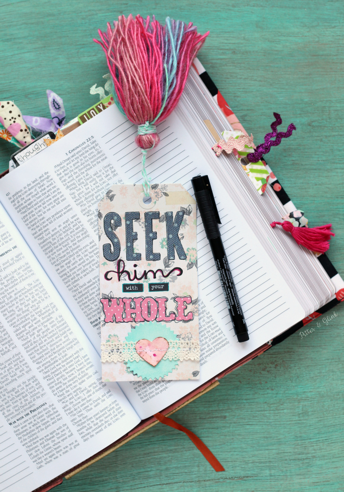 Create a Handmade Tasseled Tag Bookmark for your journaling Bible | www.pitterandglink.com