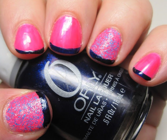 Pink Cookie neon, Salon Perfect Shocked accent and funky French