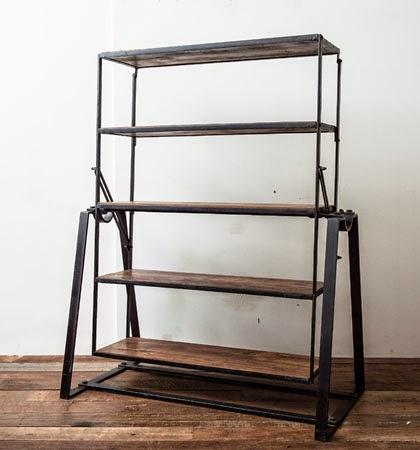 vintage metal rack