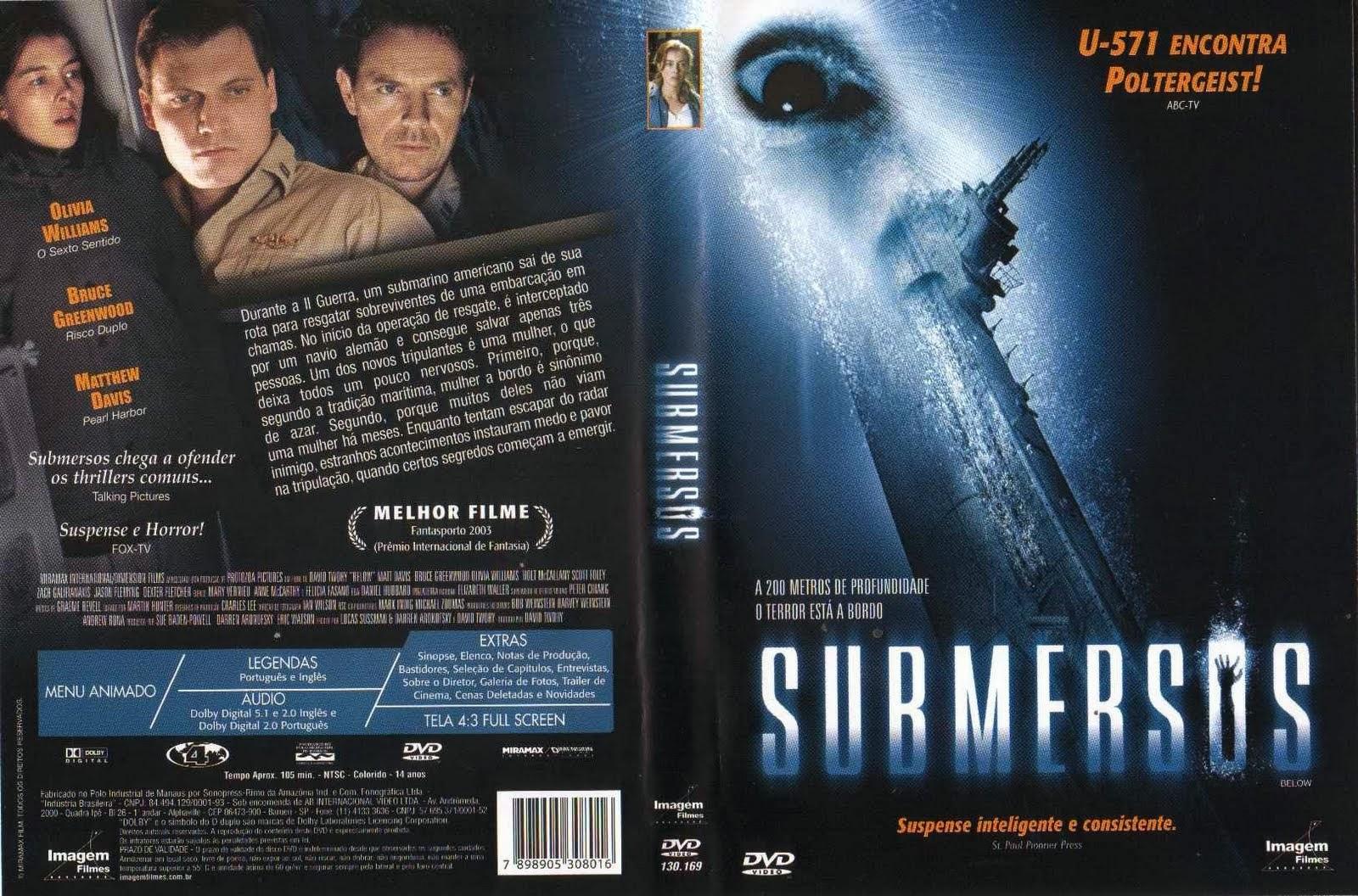 Filme Submersos DVD Capa