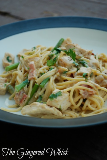 Chicken and Asparagus Carbonara (The Gingered Whisk)
