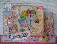 A card using the unicorn digital stamp