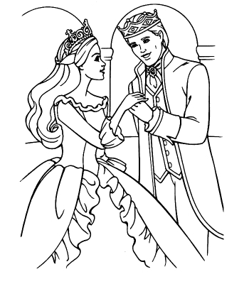 Free Cartoon Characters Disney Coloring Pages For Girls Ken And Barbie Wedding In A Fairy Tale Is Princess Met Prince Wore White