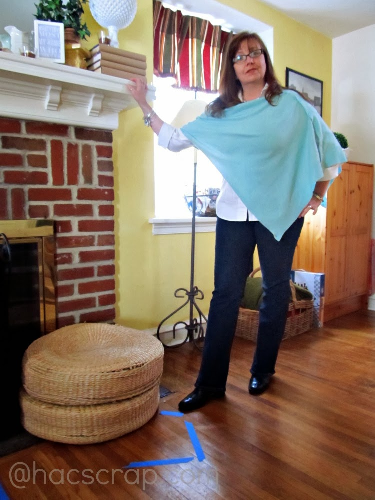 Transitional Outfit - jeans, white shirt, aqua cape, boots