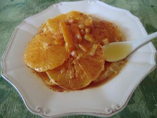 Salade d'oranges à la cannelle et au sirop d'agave