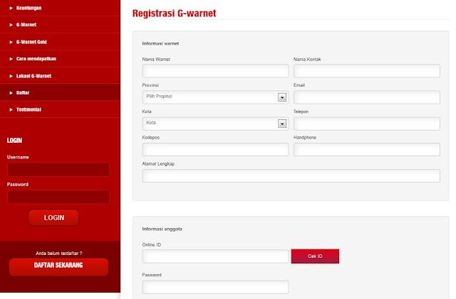 Gwarnet Gemscool Login | Daftar GWarnet.com