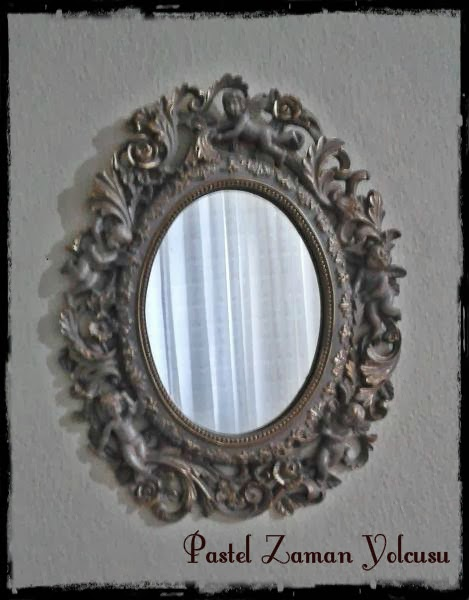 Madame Coco Melekli Ayna, Madame Coco Eskitme Ayna, DIY, Madame Coco Çerçeve