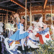 Carousel Disneyland White Rabbit