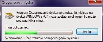 Windows - Oczyszczanie Dysku