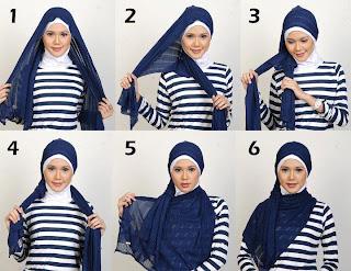 cara memakai jilbab - tutorial hijab