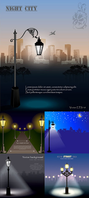 Street Lamps and Night City