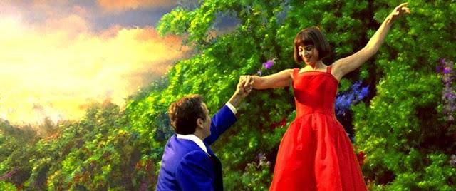 robin williams Annabella Sciorra más allá de los sueños escena cuadro felices vestido rojo