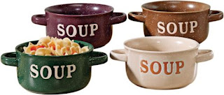 Colorful soup bowls