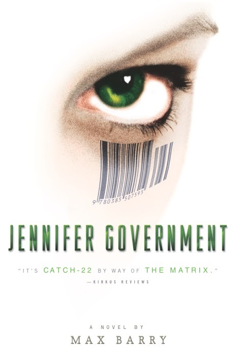 jennifer government Max barry (born 18 march 1973) is an australian novelist, short-story writer and essayist his books include syrup, jennifer government, and company.