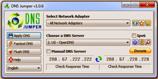 dns jumper window