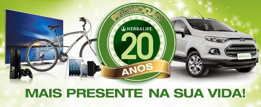 Promoção Herbalife 20 anos