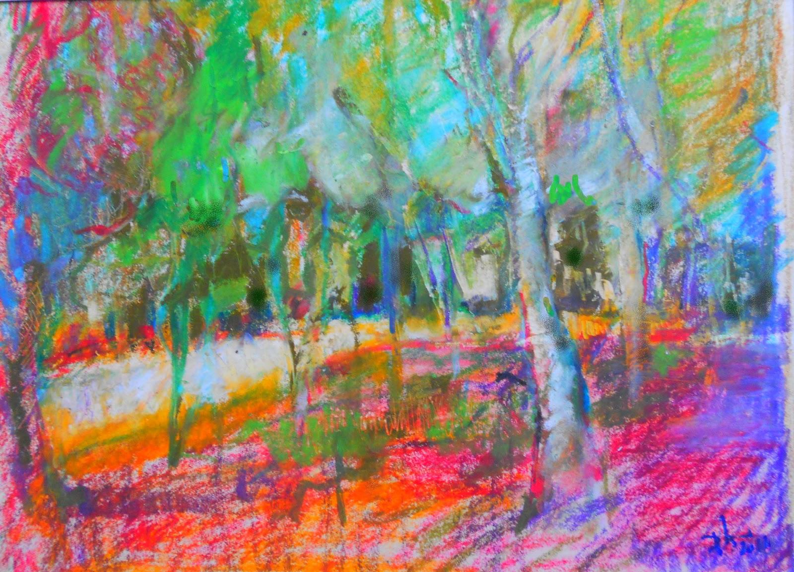 Chaque jour une peinture septembre 2012 for Peinture pastel gras