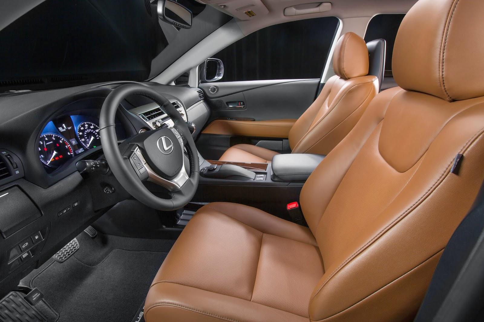 Interior view of 2015 Lexus RX 350