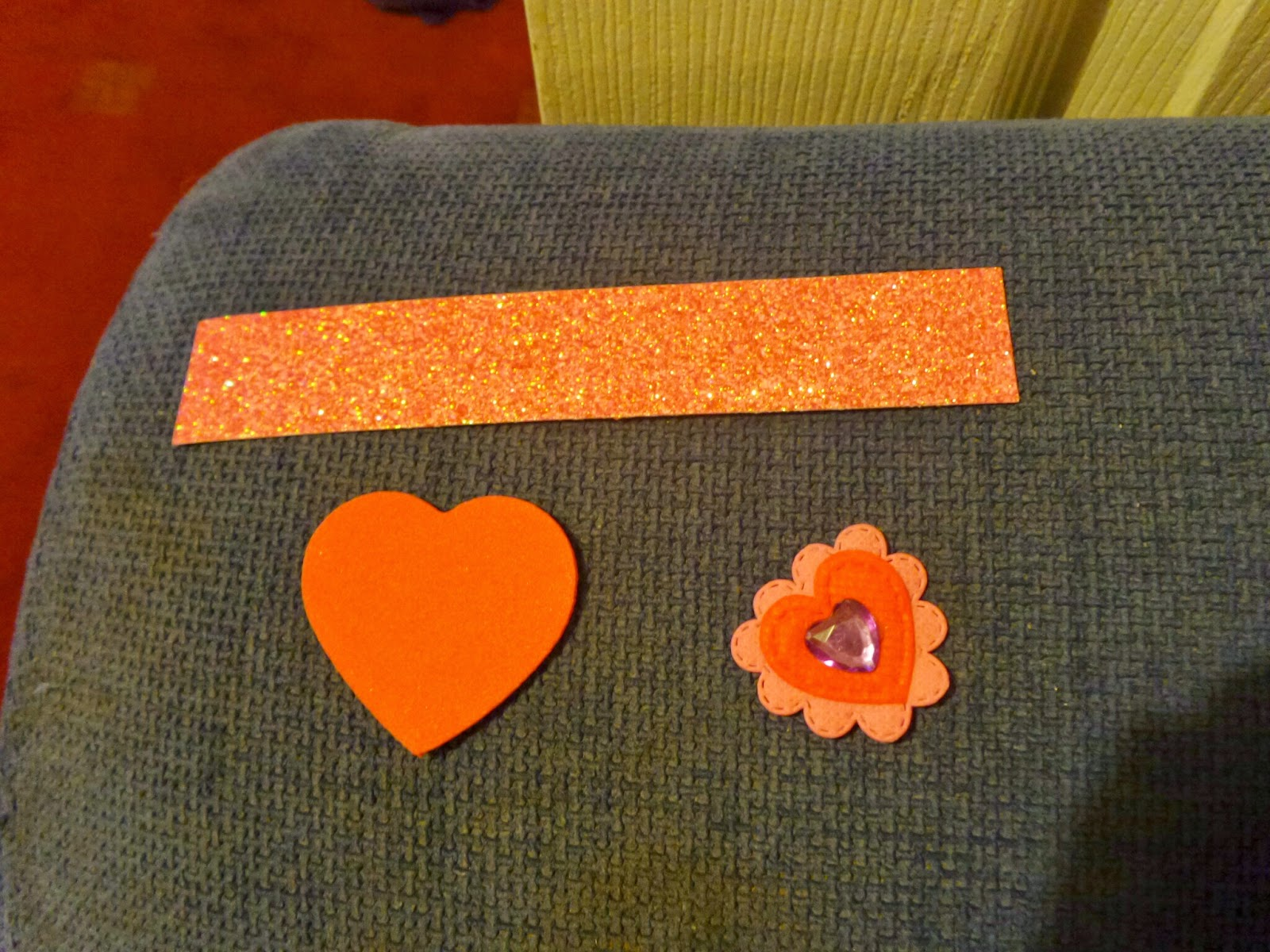 Sparkly Bookmark before assembly