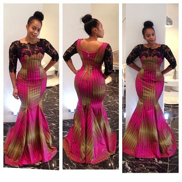 Creative ankara long gown design debonke house of fashion