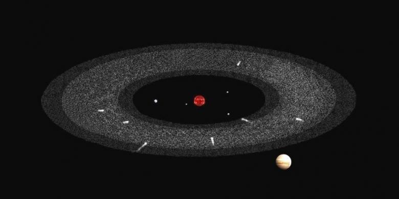 Makam Komet Ditemukan di Antara Mars dan Jupiter