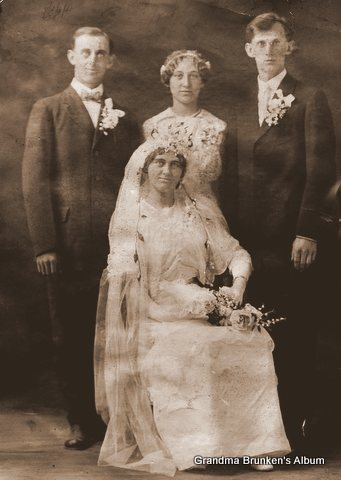 Cecelia Petersen and Frank Weber Wedding - 1914