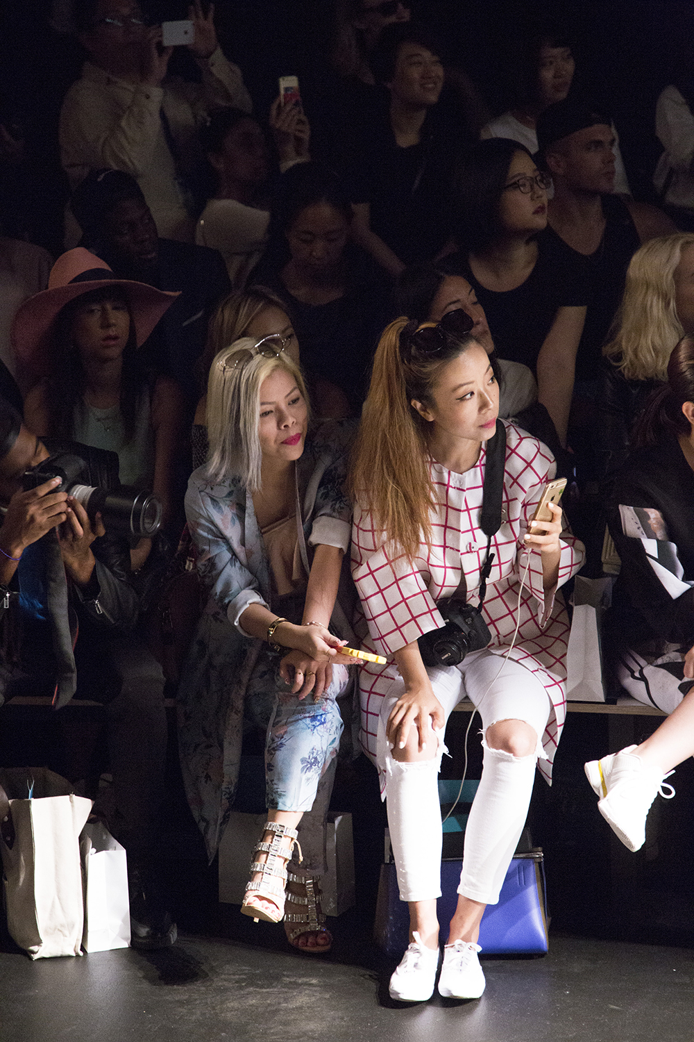 Crystal Phuong- New York Fashion Week Day 5- Frontrow at Concept Korea show