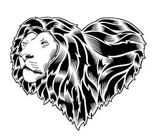 Rasta lion head stencil - photo#28