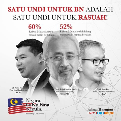 SATU UNDI UNTUK BARISAN NASIONAL ADALAH SATU UNDI UNTUK RASUAH