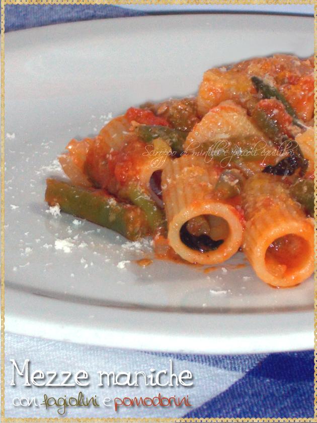 Pasta con fagiolini e pomodorini