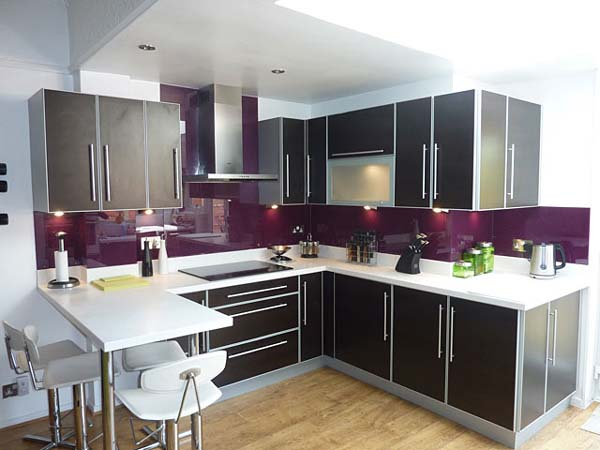 Purple Kitchen Splashbacks The Kitchen Design