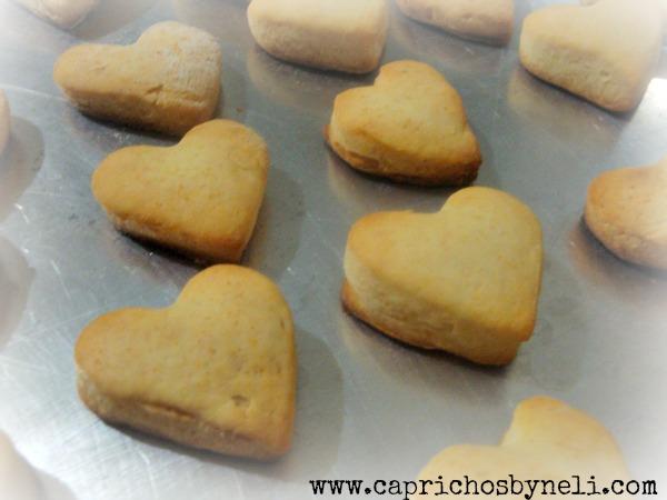 Presentes comestíveis, biscoitos em forme de coração