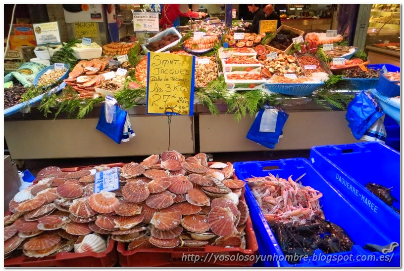 Puesto de fruits de mer o marisc