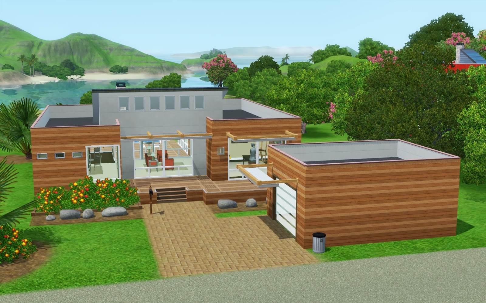 Amusing modern houses sims 3 gallery simple design home robaxin25 summer s little sims 3 garden isla paradiso the sims 3 island sisterspd