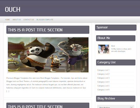 Ouch Blogger Theme