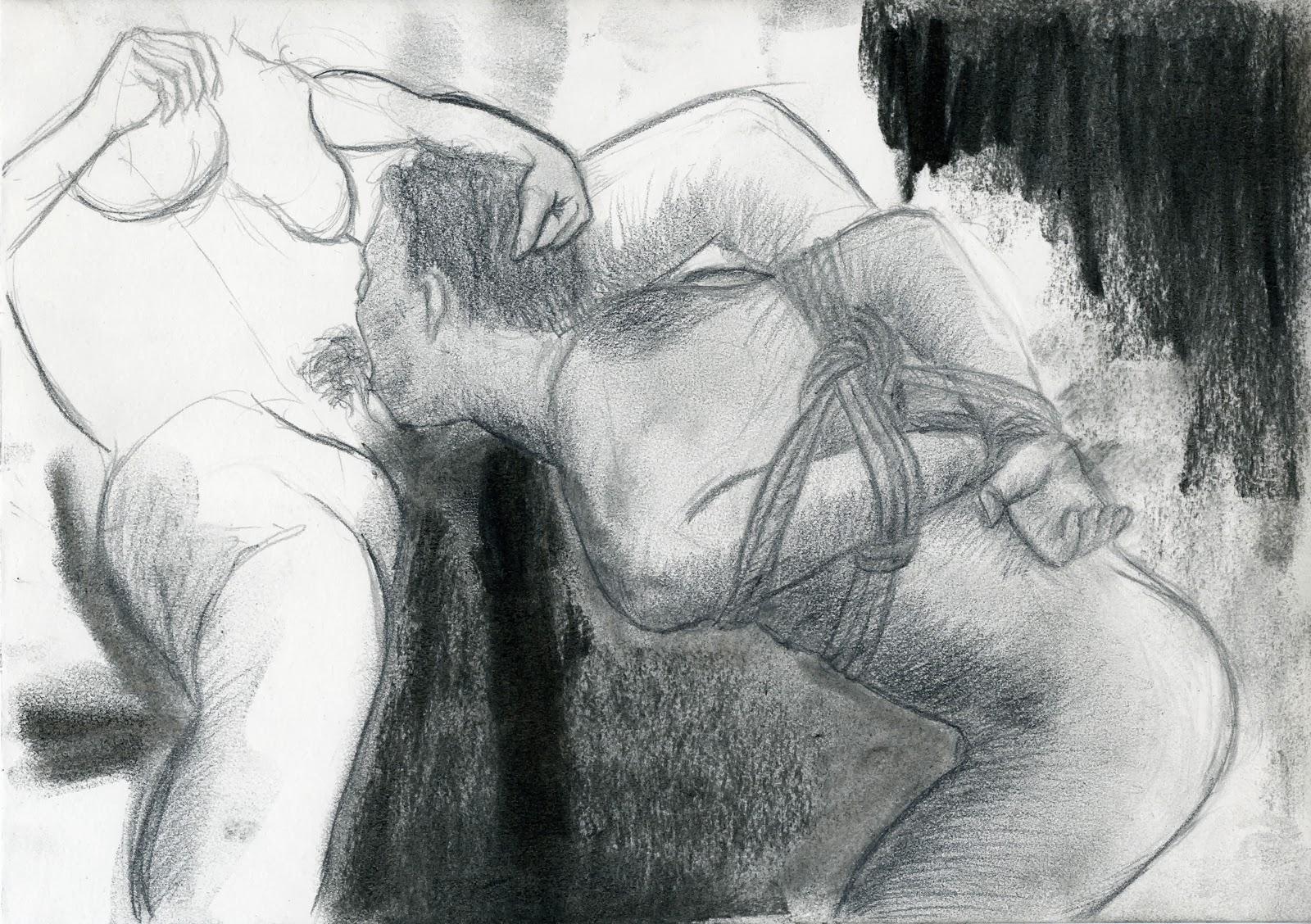 dessin pornographique, femdom, bondage, submission