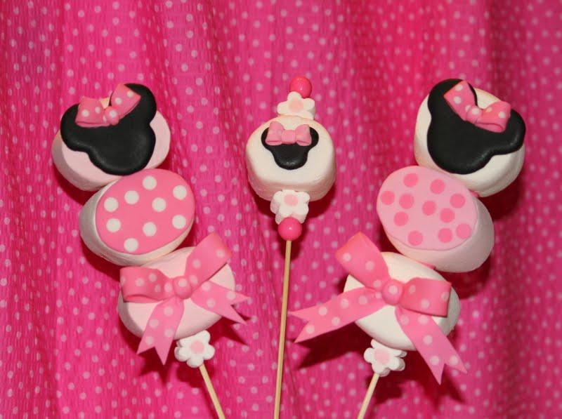 Paletas De Bomb  N De La Ratona Mimi   Minnie Mouse Marshmallow Kabobs