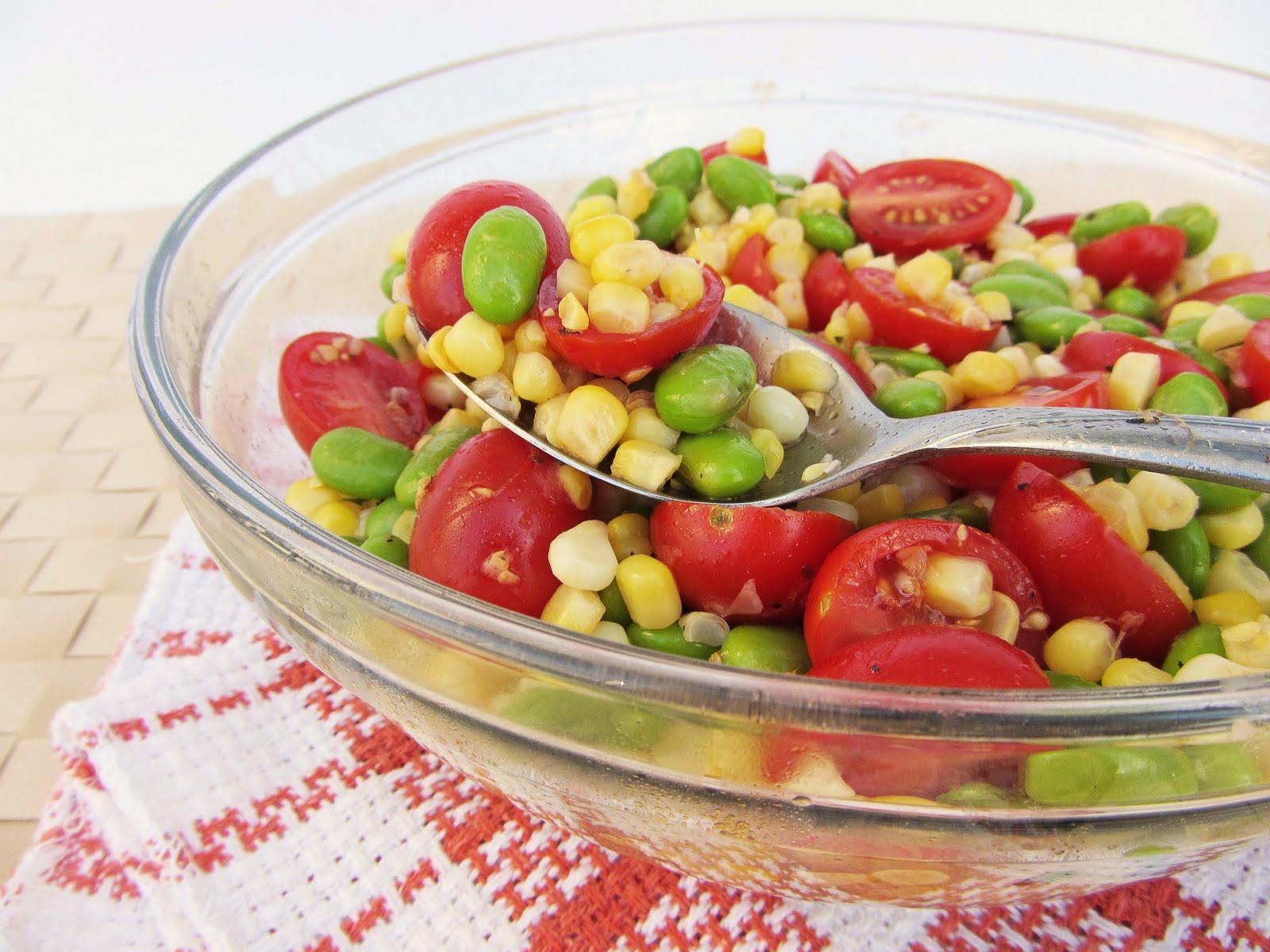 corn tomato edamame