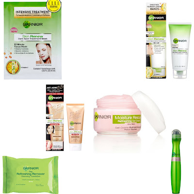Garnier, Garnier skincare, Garnier Skin Renew Dark Spot Treatment Mask, Garnier Skin Renew Dark Spot Hand Treatment, Garnier Moisture Refresh Moisturizing Gel-Cream, Garnier BB cream, Garnier Refreshing Remover Cleansing Towelettes, Garnier Anti-Puff Eye Roller, skin, skincare, skin care, beauty giveaway, A Month of Beautiful Giveaways