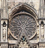 Rose Window Detail Reims Cathedral