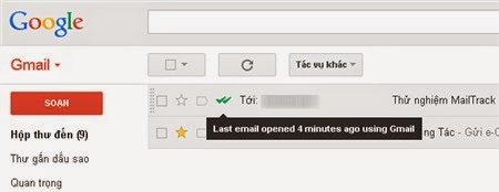 MailTrack - Có thể kiểm tra xem người nhận đã đọc thư chưa
