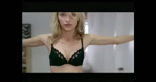 supermodel Inna Zobova as a model WonderBra commercial