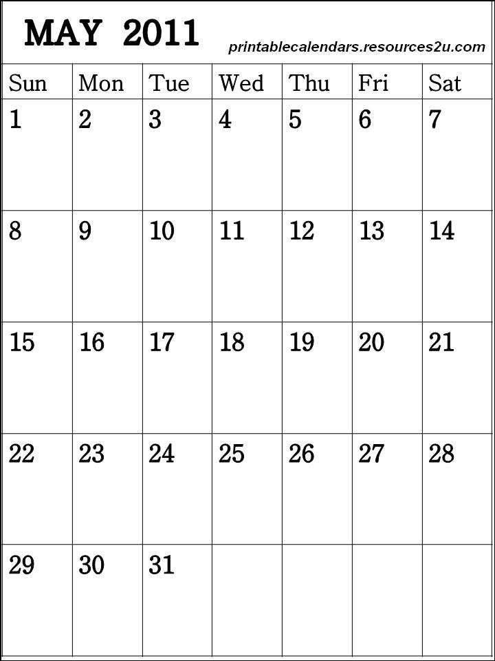 calendar 2011 template. Free Calendar 2011 May to