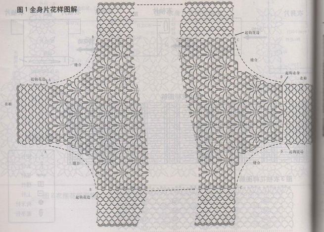 Вяжется симметричное полотно с