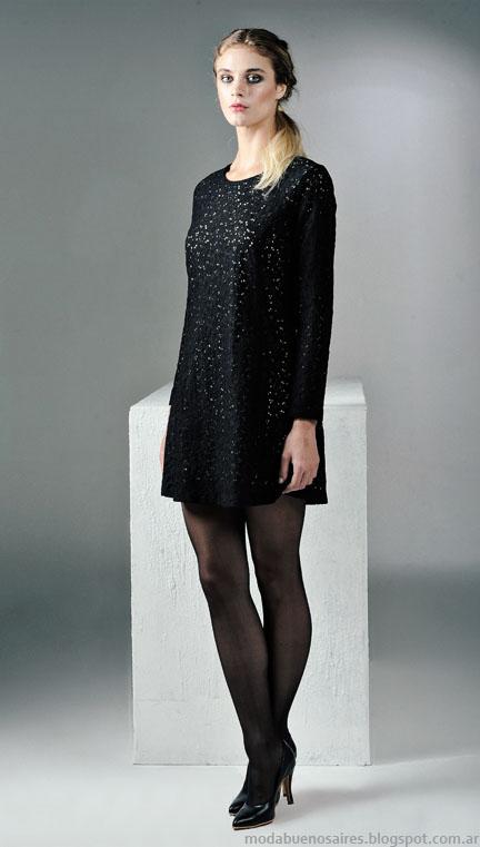 Vestidos invierno 2015 moda Mancini mujer.