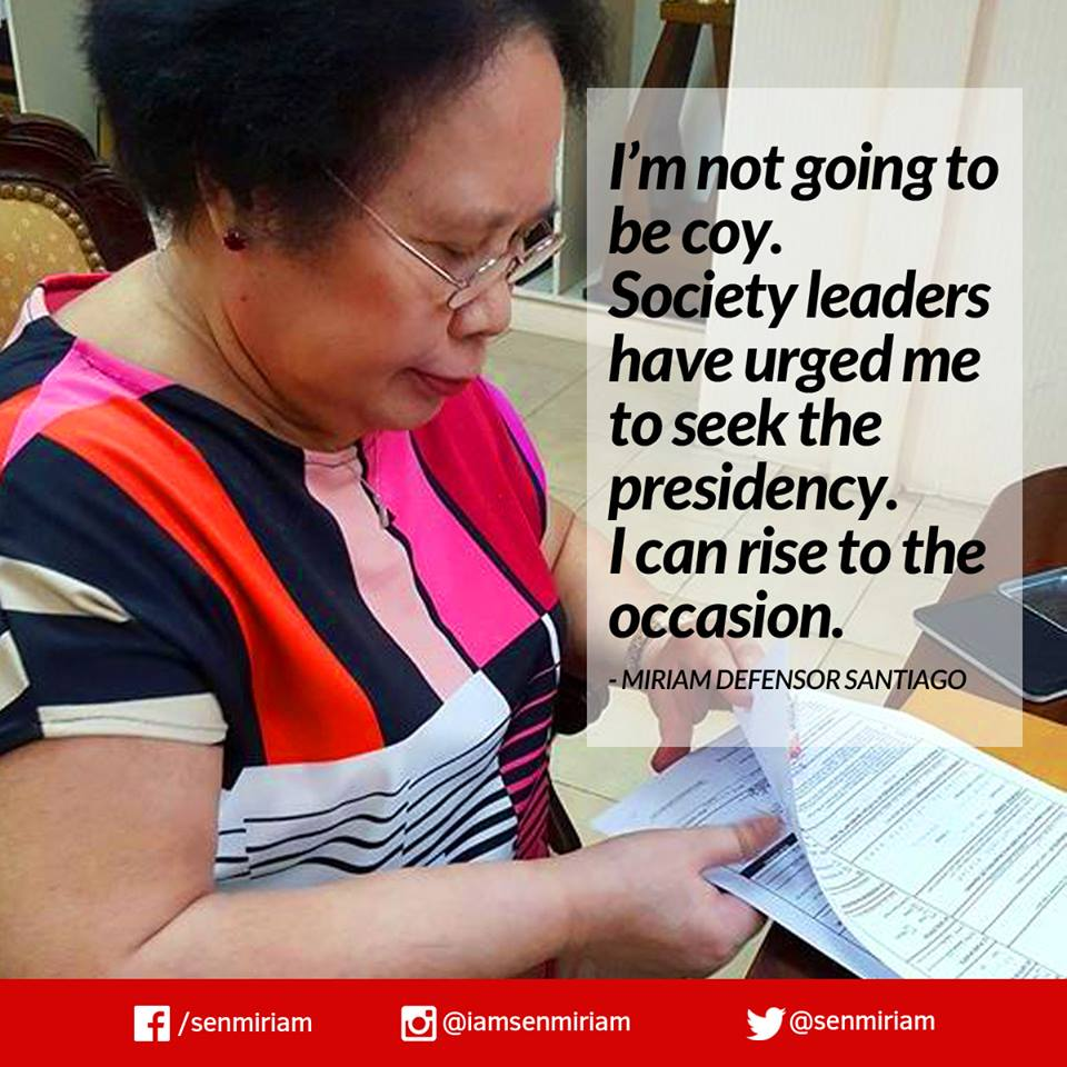 Miriam Defensor Santiago for President in 2016